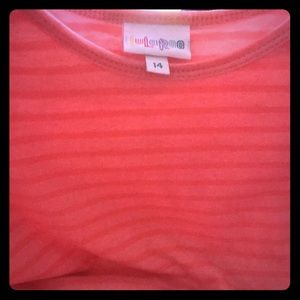 Hot pink striped Gracie 65 cotton 35 poly